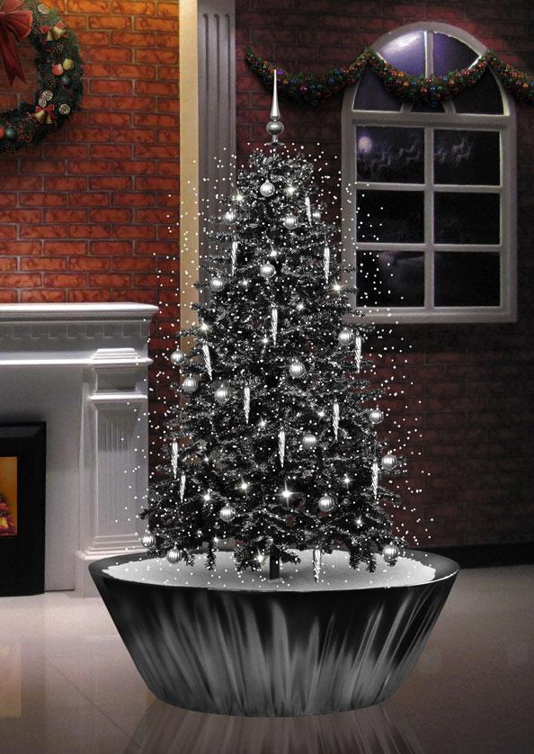 snowing christmas tree - black 2010 - 2011 - Snowing Christmas Tree - Gallery 2012